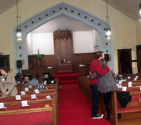 This is the sanctuary of the church where Len and I married - Grace United Methodist Church in Chicago.  A blessed place.
