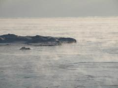 Ice Fog over Lake Michigan
